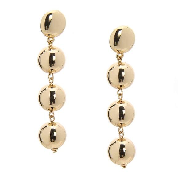 """Kelly & Katie Gold Ball Drop Earrings 3"""""""